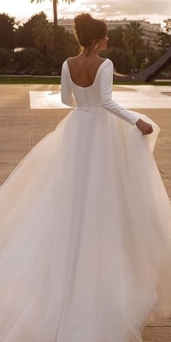long sleeve wedding dresses low back simple princess oksana mukha