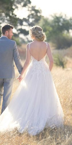 rustic wedding dresses a line low back with spaghetti straps lace australia