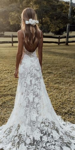wedding dress designers a line with straps backless with train boho grace loves lace