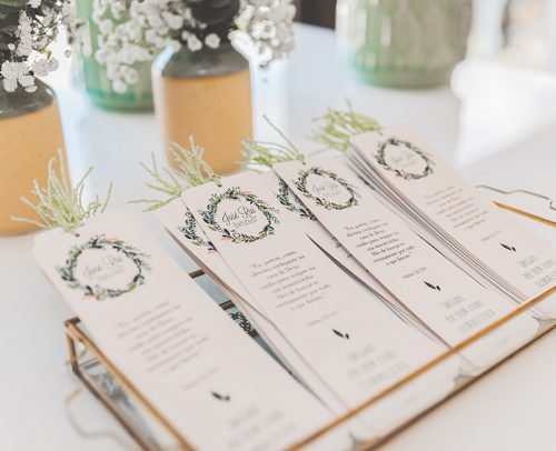 wedding programs thank you wording stationery at the table