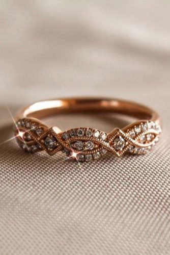 zales engagement rings rose gold twisted wedding band