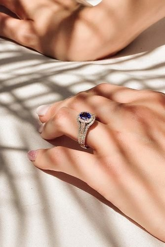 zales engagement rings sapphire oval cut halo gold