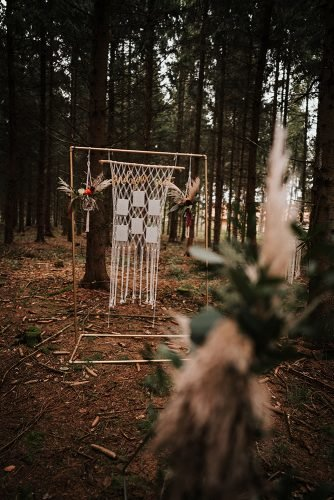 forest wedding styled shoots boho reception fotografie danielaebner