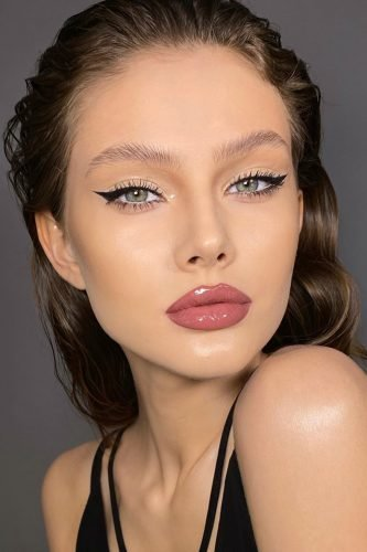 pinterest makeup for brides elegant gloss minimalist with arrows piminova_valery