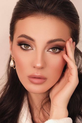 pinterest makeup for brides natural smokey with nude lips antonova_makeup