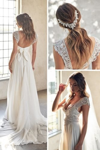 vintage inspired wedding dresses collage anna campbel
