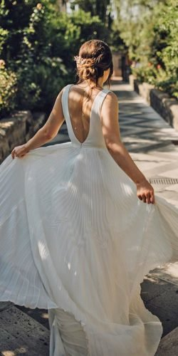 a line wedding dresses low back simple country suzanneneville