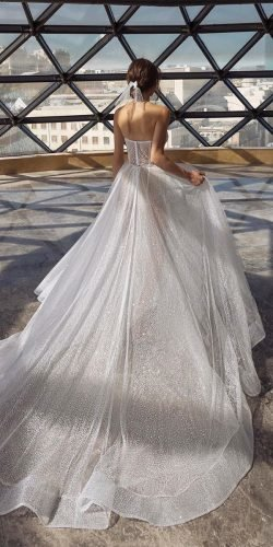 a line wedding dresses low back with train romantic dimitriusdalia