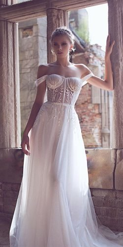 beach wedding dresses a line off the shoulder sweetheart neckline country yaniv persy
