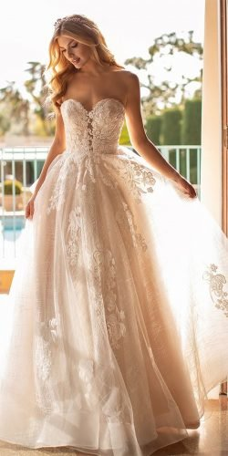 beach wedding dresses a line sweetheart neckline lace ivory moonlightbridal