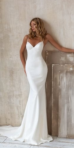 beach wedding dresses simple with spaghetti straps sweetheart eva lendel