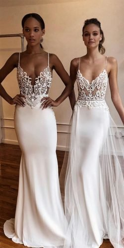 beach wedding dresses with spaghetti straps lace top sexy berta