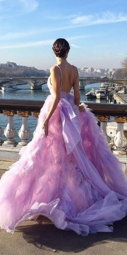 best wedding dresses ball gown purple colored moniquelhuillier