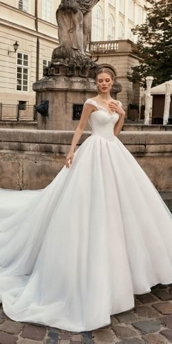 disney wedding dresses ball gown sweethert neckline with train maximabridalcanada