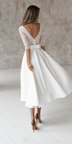 24 Gorgeous Tea Length Wedding Dresses Wedding Forward