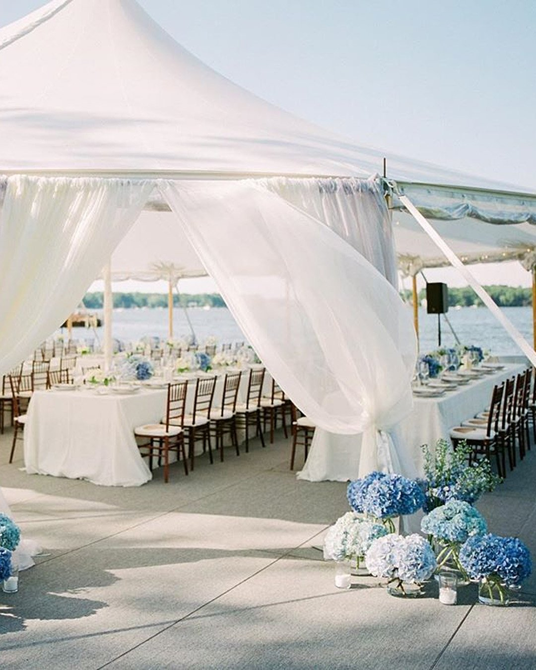 wedding colors Silver Ice Blue Frost White Metallic Gray wedding reception tent
