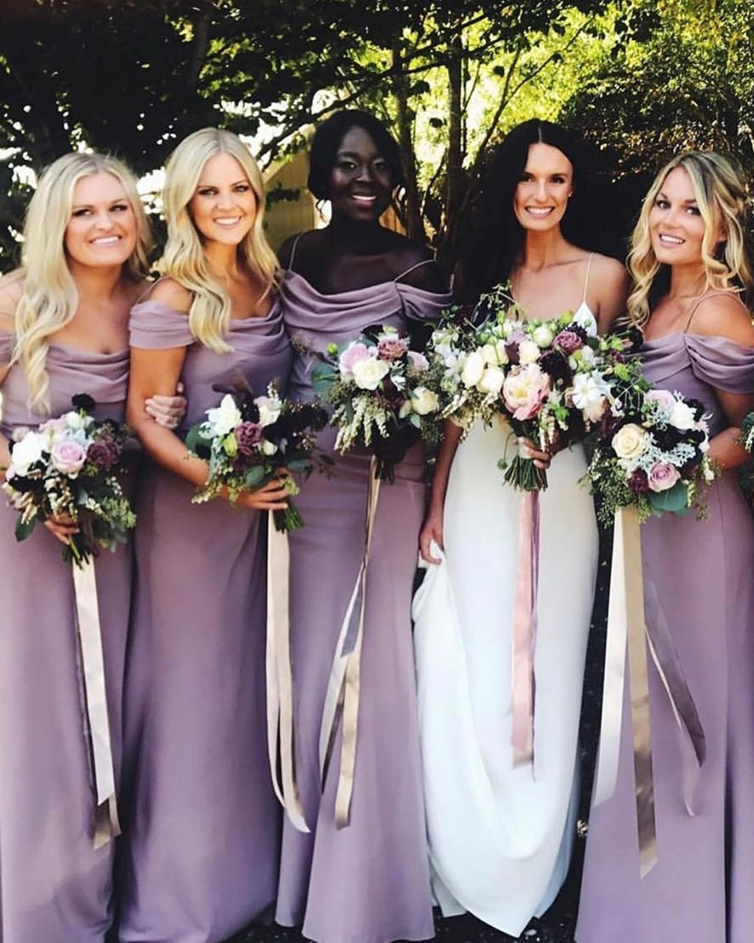 wedding colors purple lavender violet bridesmaids