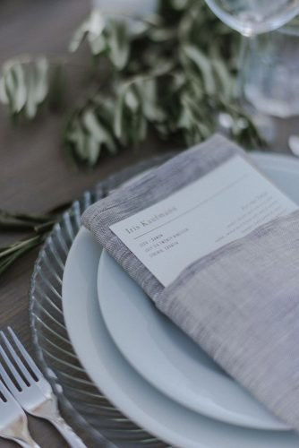 vine yard wedding weekend extravaganza grey napkin zeev_damon