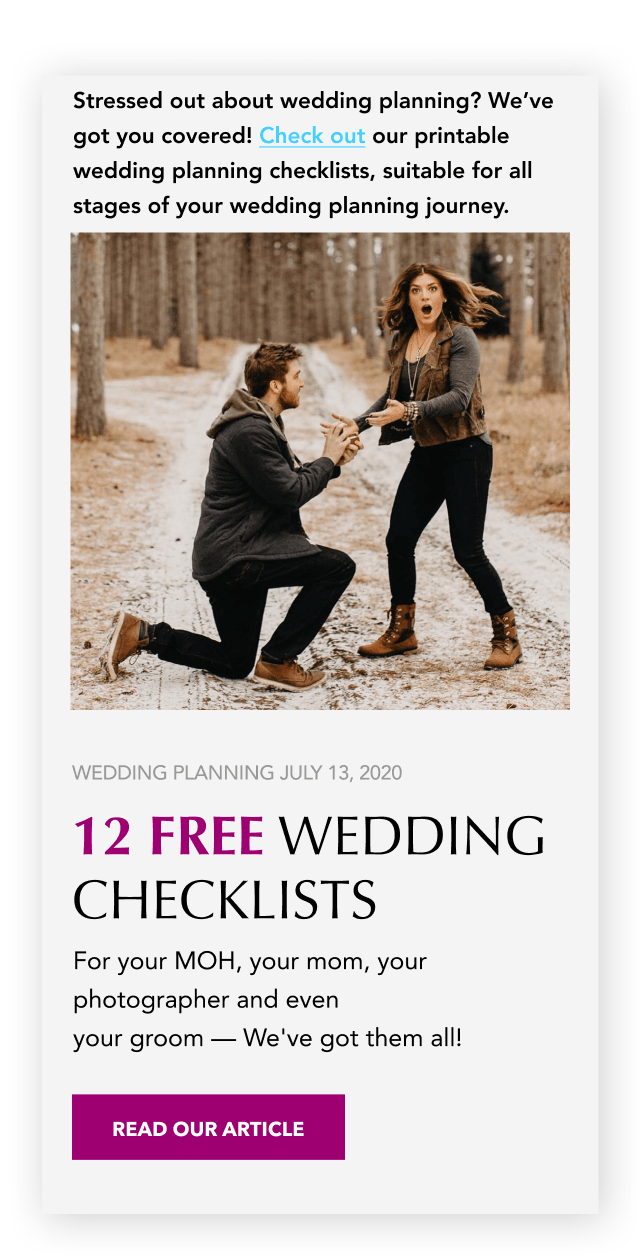 Wedding Checklists Banner