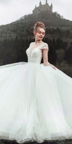 disney wedding dresses a line with cap sleeves lace allure cinderella