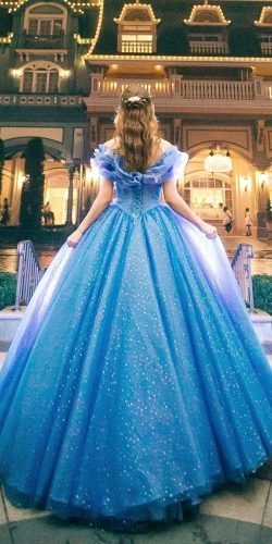 disney wedding dresses blue off the shoulder ball gown cocomelody