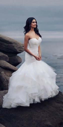 disney wedding dresses mermaid sweetheart neckline strapless allure ariel