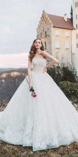 disney wedding dresses strapless neckline princes lace aurora allure
