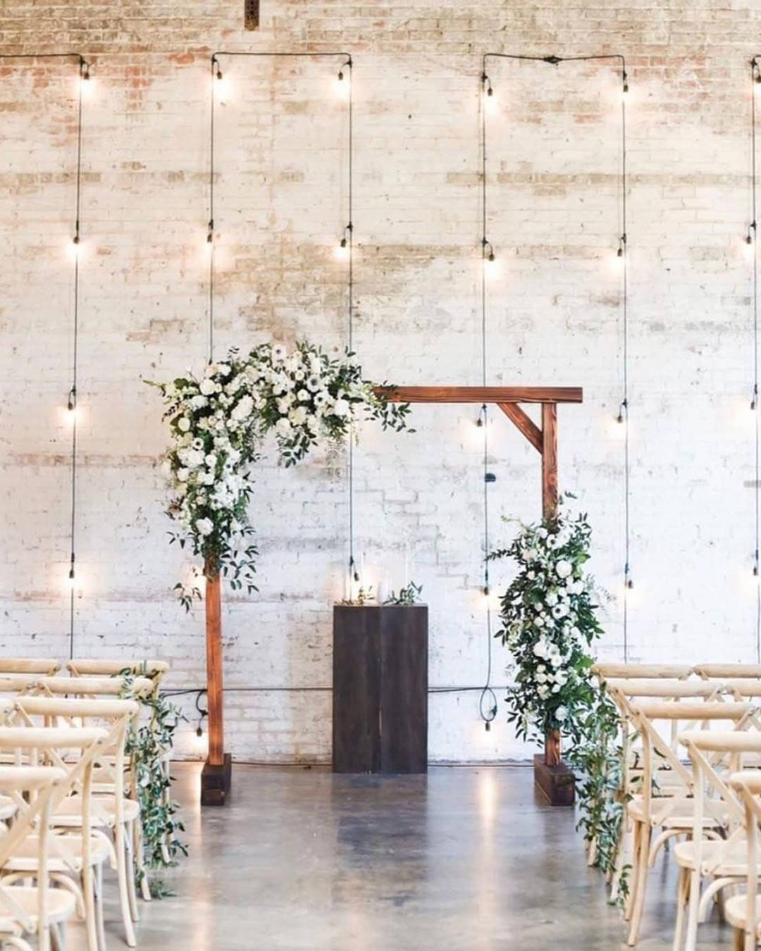 rustic wedding ideas venue arch greenery