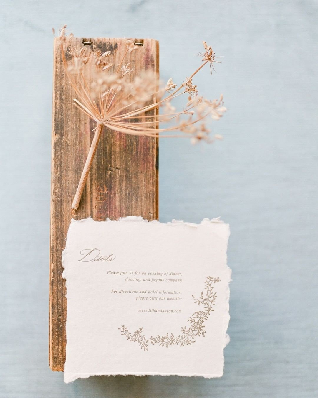 rustic wedding ideas wooden invitation natural color