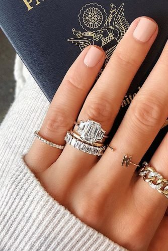 wedding rings three stones diamond ring modern bands
