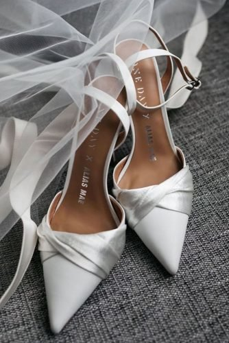 wedding shoes simple with heels white onedaybridal