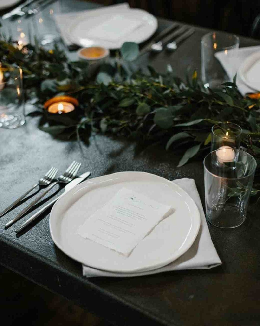 wedding trends black wedding palette table setting