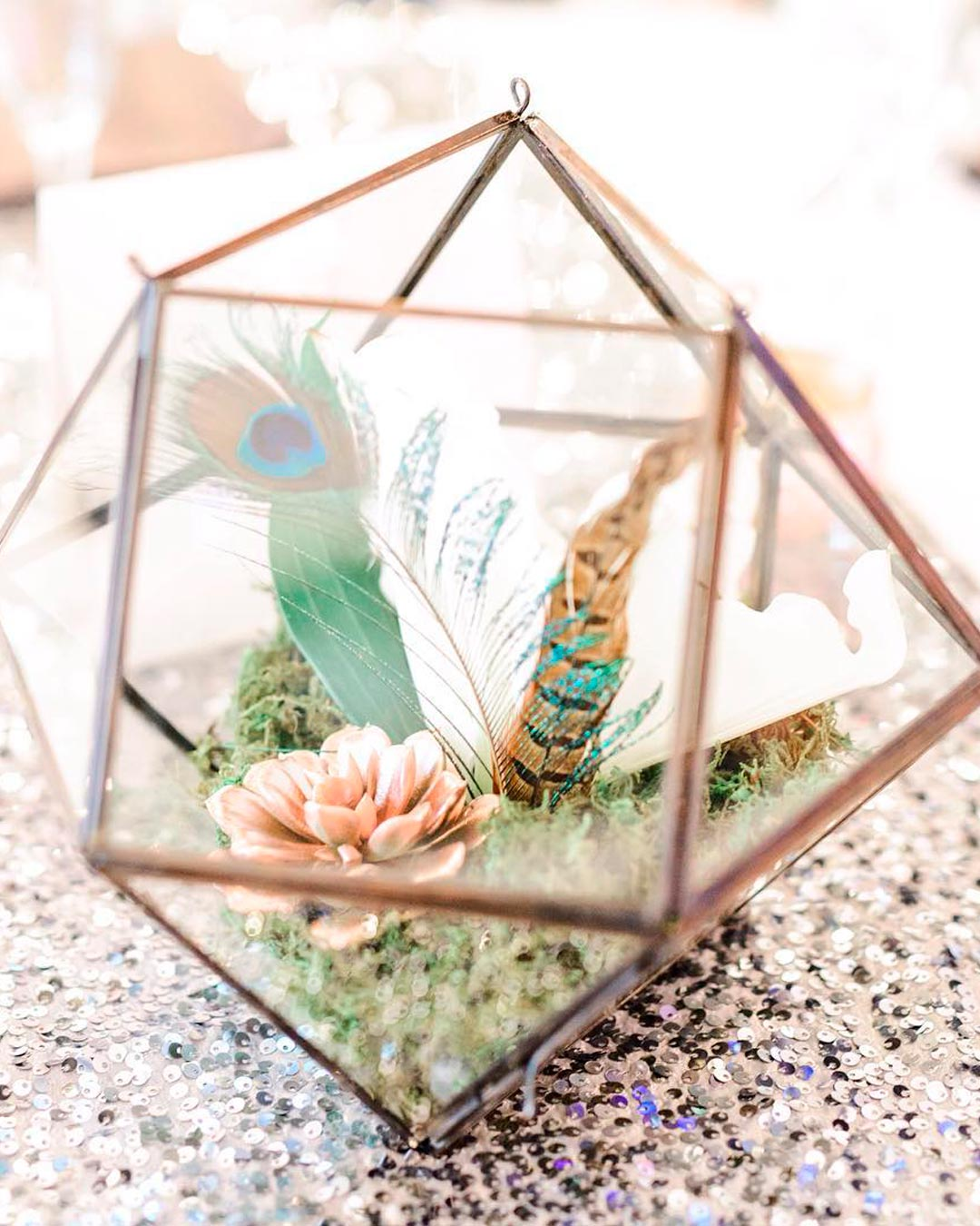 wedding trends centerpieces geometric