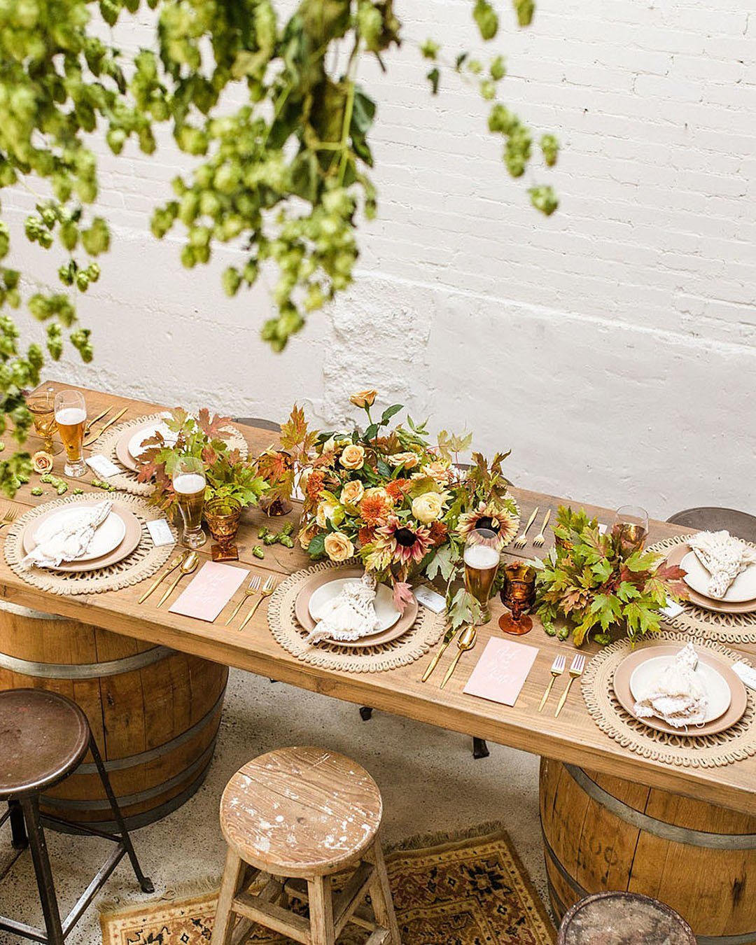 wedding trends eco wedding with greenery decor