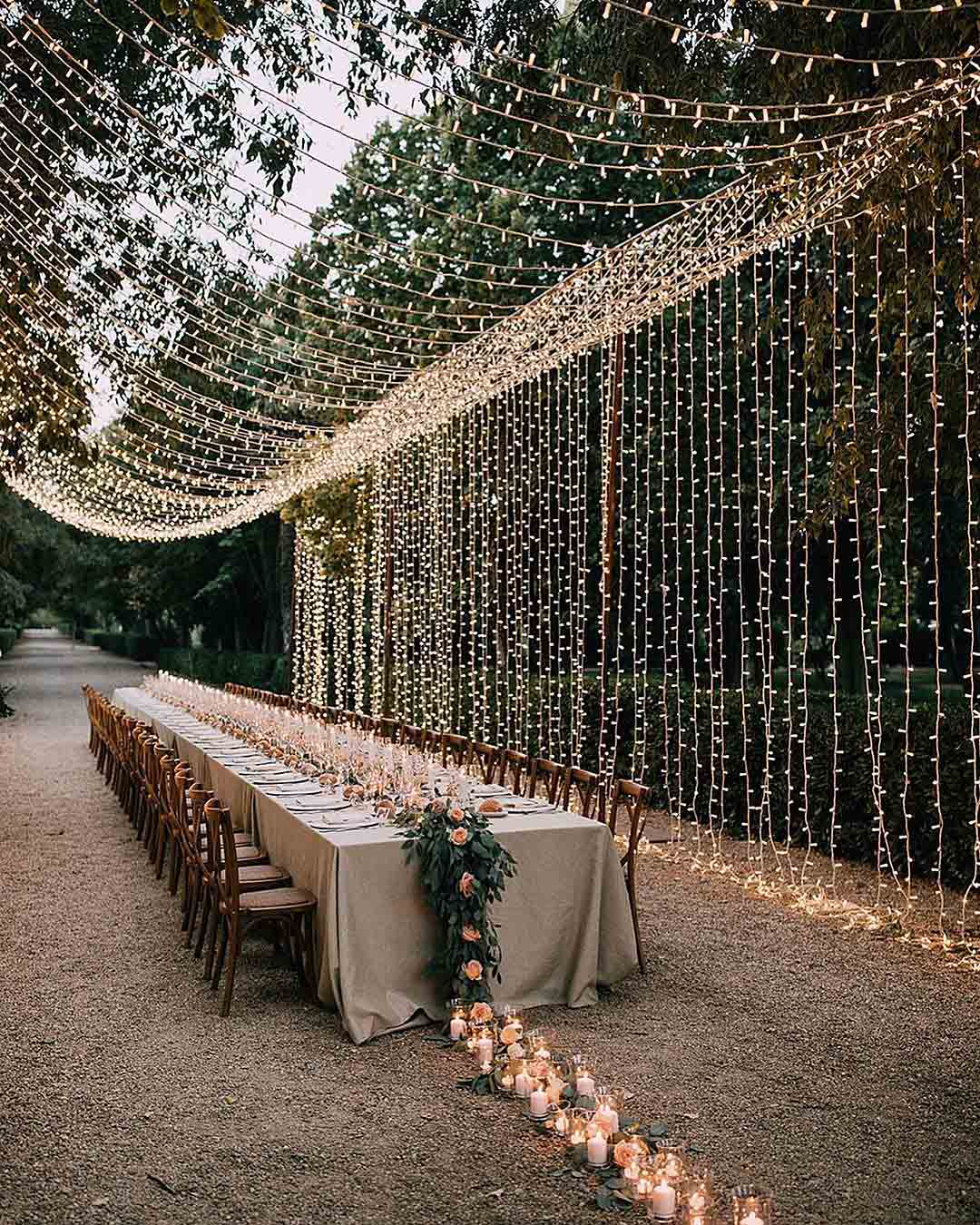 wedding trends lighting wall wedding reception outdoor