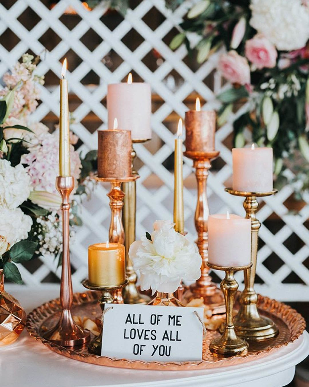 wedding trends metallic candle holders