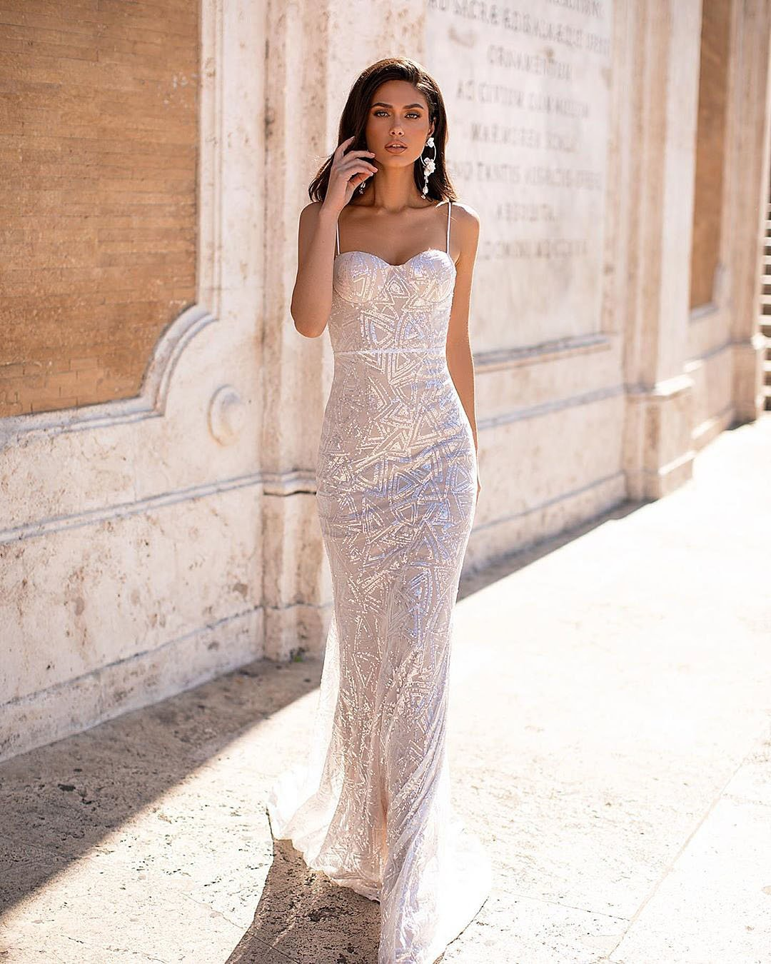 wedding trends sparkle wedding dress maxi