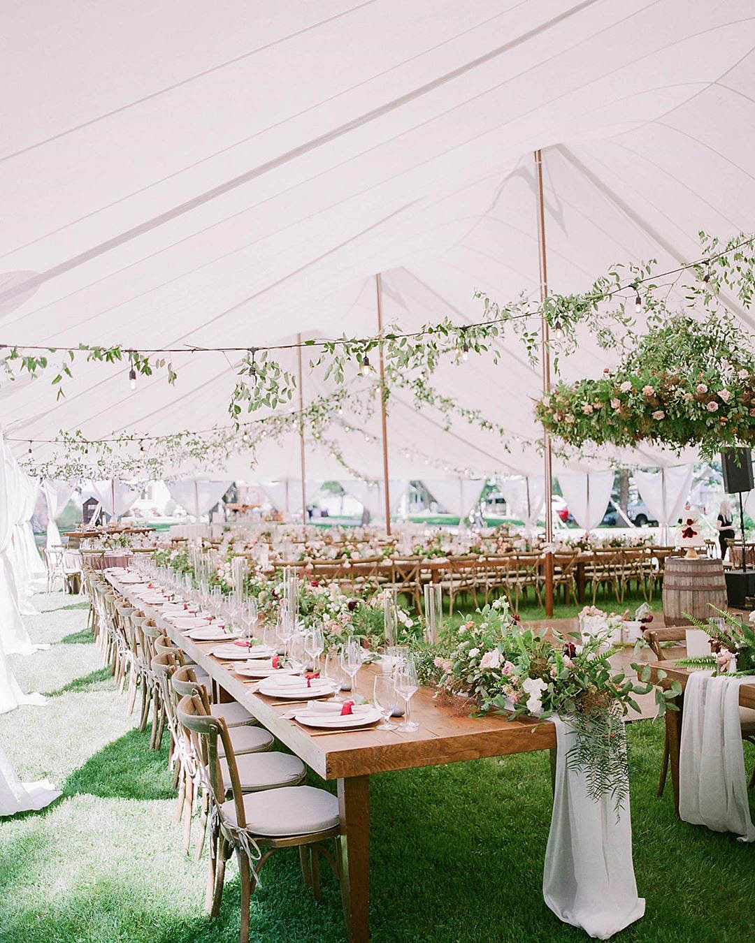 wedding trends wedding reception white and greenery theme