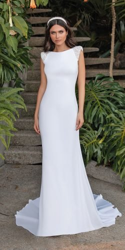 modest wedding dresses sheath simple country pronovias