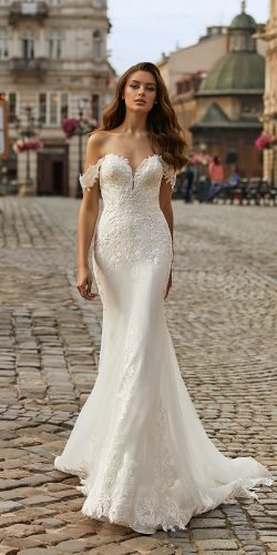 moonlight wedding dresses mermaid sweetheart neckline off the shoulder