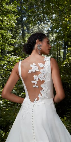 tattoo effect wedding dresses floral appliques 3d anna barge
