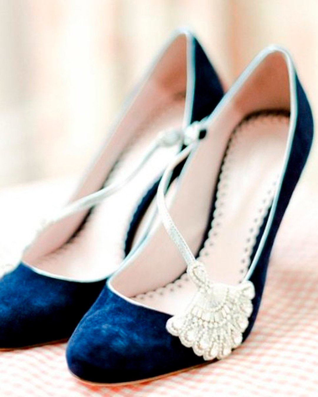 blue and white wedding colors shoes