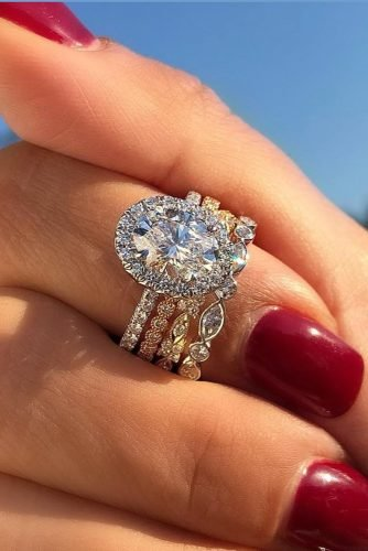 diamond wedding rings halo engagement rings bridal sets