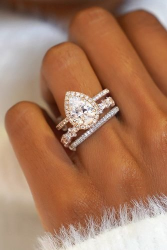 diamond wedding rings halo engagement rings pear cut