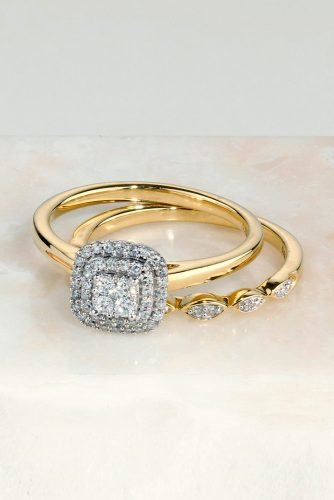 diamond wedding rings halo engagement rings yellow gold