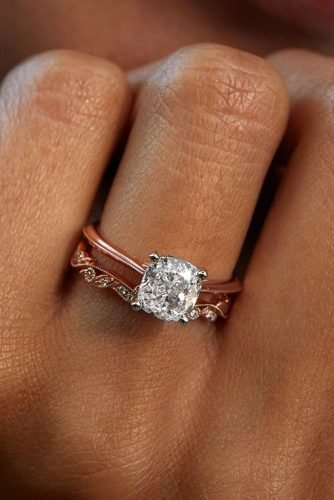 diamond wedding rings rose gold engagement rings round cut engagement rings