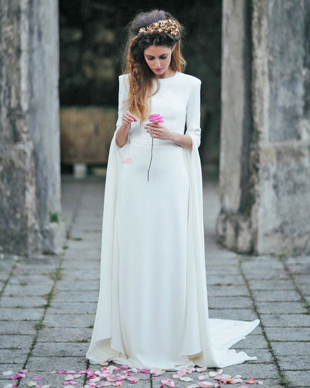 greek wedding dresses simple sheath with cape ohqueluna