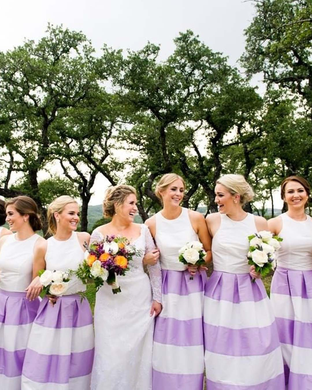 lilac wedding colors bride bridesmaids