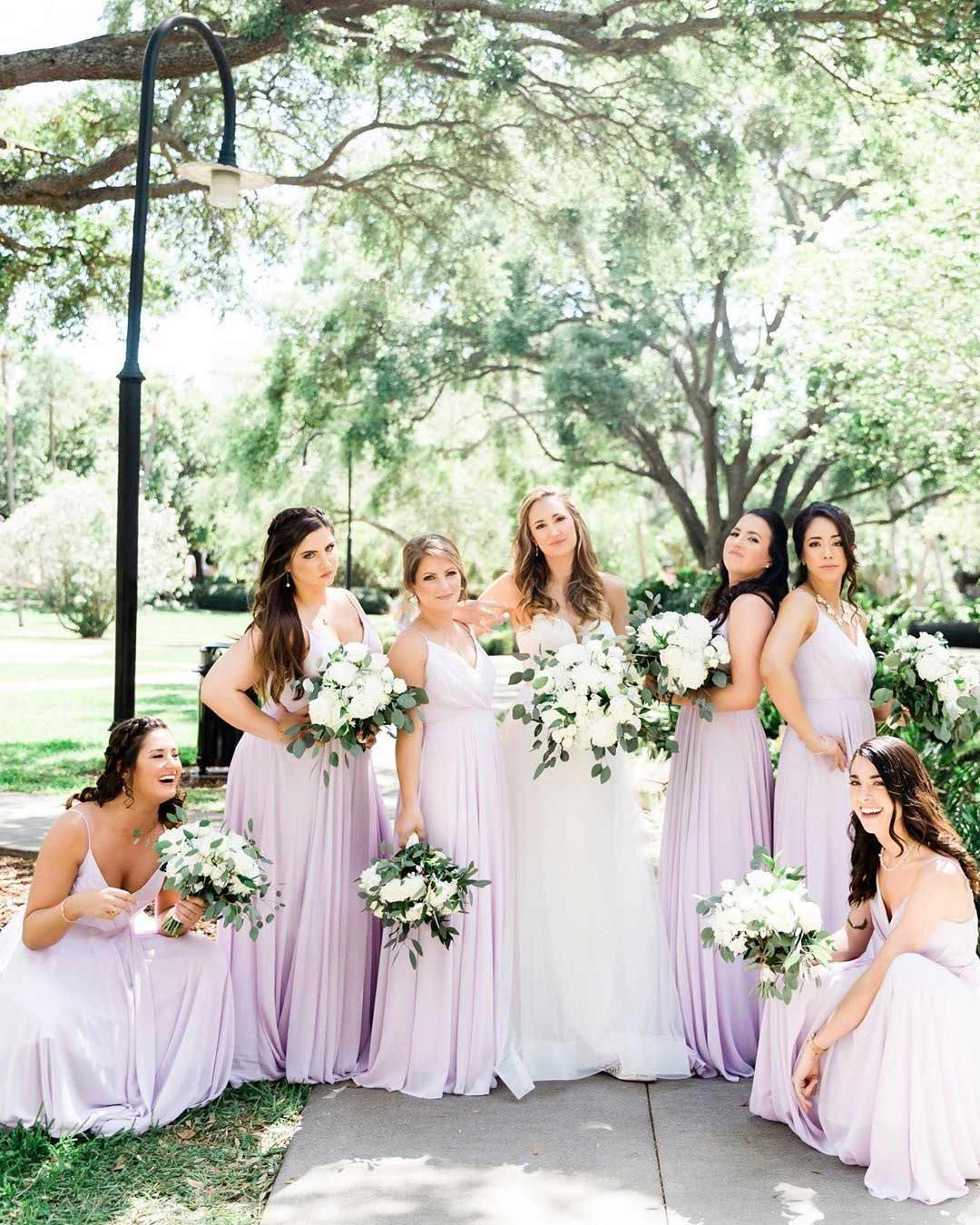 lilac wedding colors bridesmaid dresses