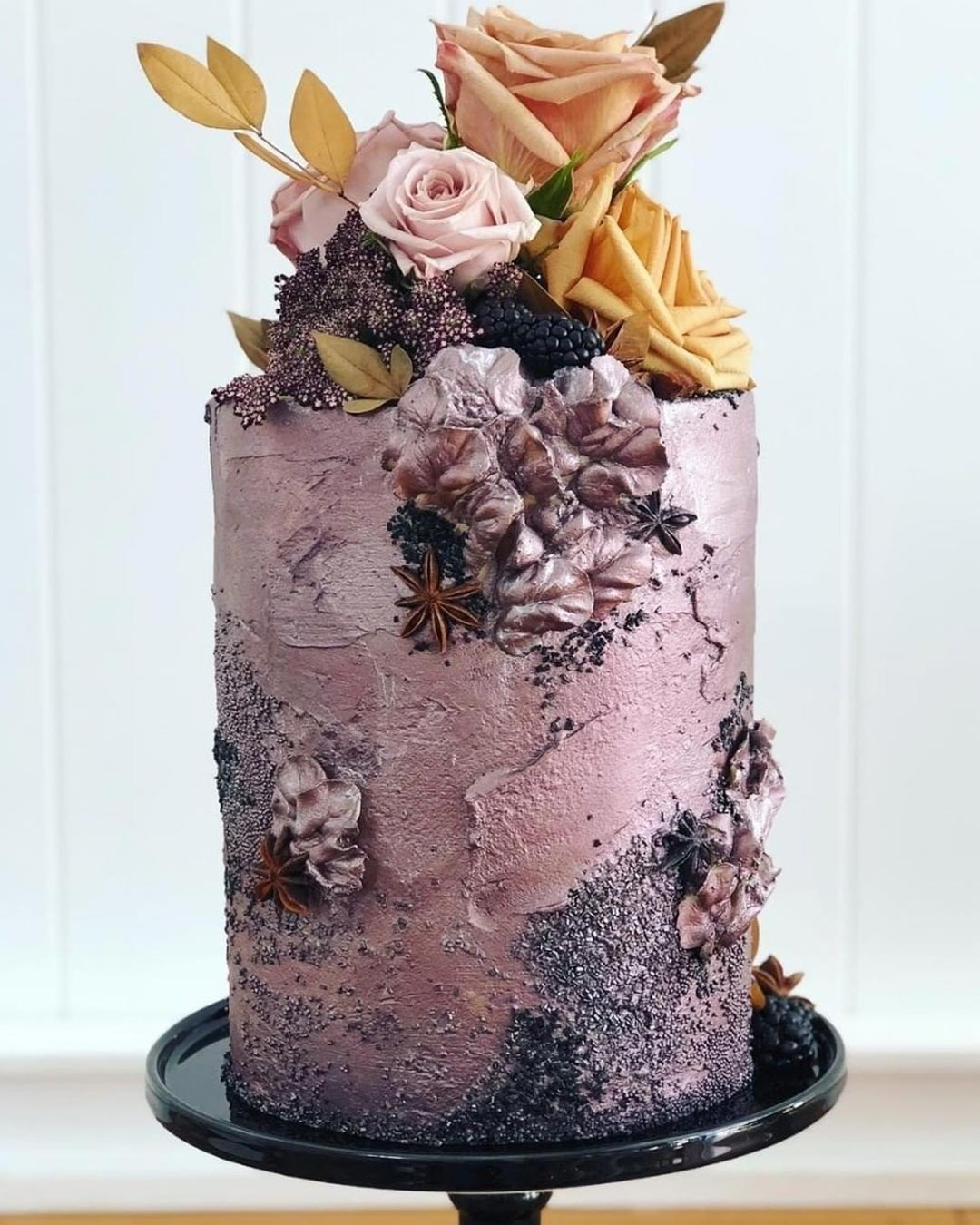 lilac wedding colors cake